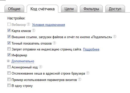 Настройка счетчика Яндекс.Метрика
